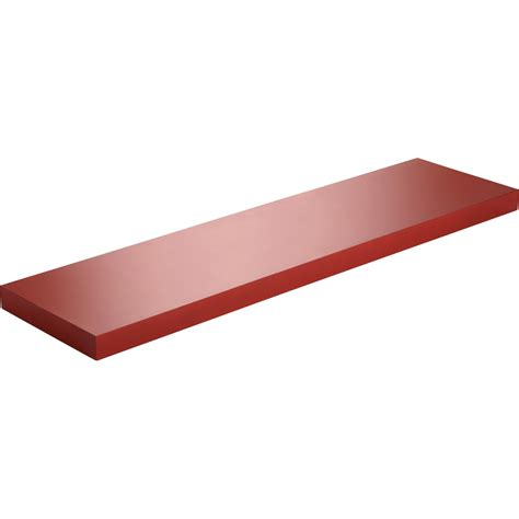 Etagère Murale Spaceo Color, Rouge Rouge N°3, L 90 X P 23
