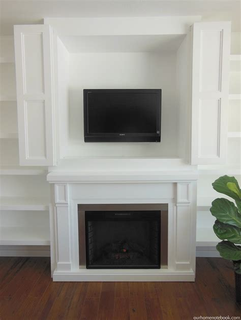 Remodelaholic  Ee  Built Ee    Ee  In Fireplace Ee   Surround And Shelving