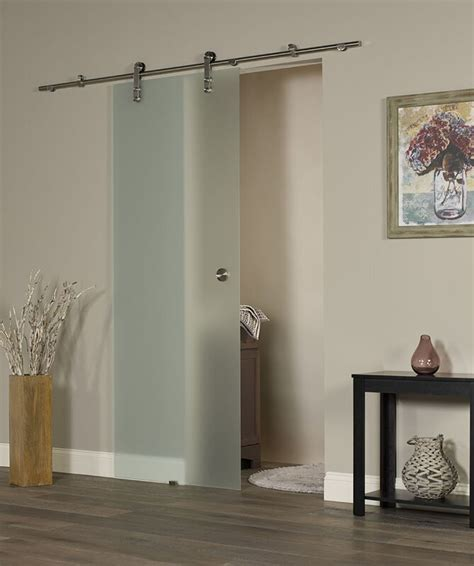 ltl barn doors  vision ice glass interior barn door