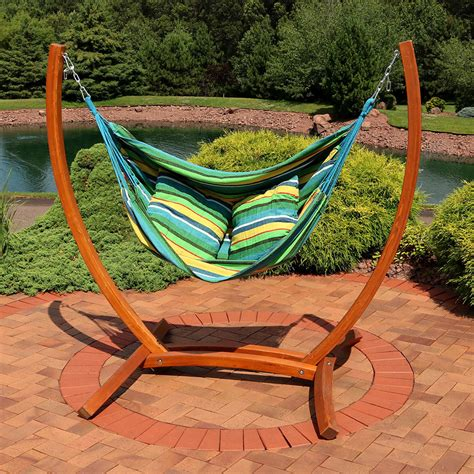 Hanging Hammock by Sunnydaze Hanging Hammock Chair Swing With Sturdy Space