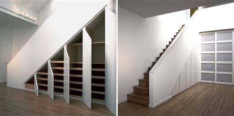 beautiful storage ideas for the stairs closet