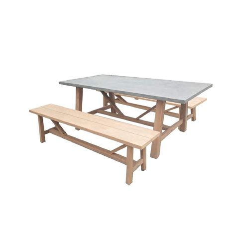 s dente amalfi cement outdoor dining set with 2 wood