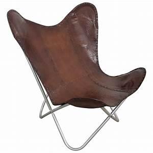 Lounge Sessel Leder Braun : butterfly chair design sessel lounge stuhl echt leder braun loungesessel retro sessel sofa ~ Bigdaddyawards.com Haus und Dekorationen