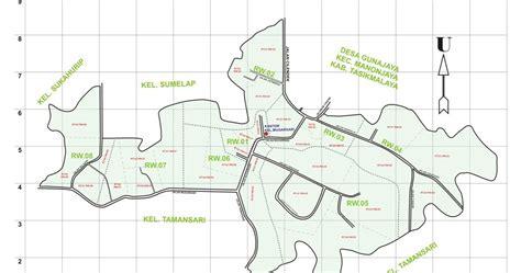 peta kelurahan mugarsari kecamatan tamansari kota