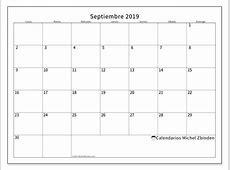 Calendarios septiembre 2019 LD