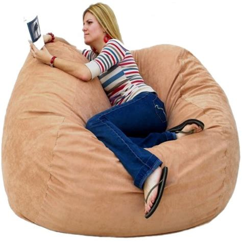 cozy sack 5 bean bag chair large chocolate