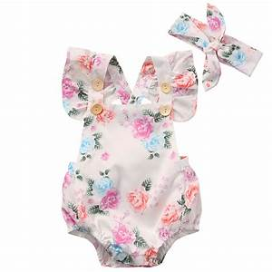 Floral Baby Romper Clothes Set 2017 Summer Newborn Baby ...