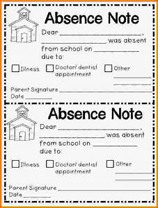school absence note template invitation template With absent notes for school templates