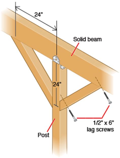 free standing deck bracing how to erect patio roof posts hometips