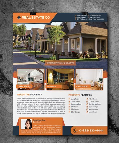 real estate flyer 40 professional real estate flyer templates