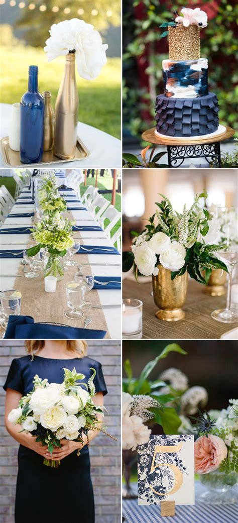 theme wedding decoration ideas navy and gold wedding themes ideas for 2017 1548