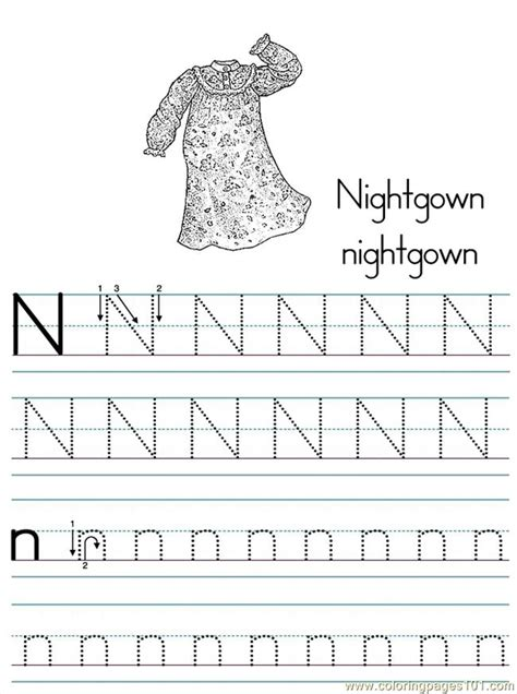 alphabet abc letter  nightgown coloring pages   coloring page  alphabets coloring