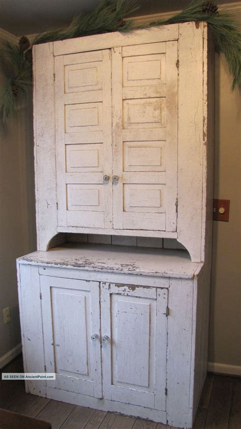Primitive Cupboard by This Old19th C Early Primitive Wooden Step