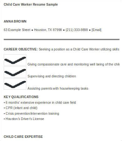 Child Care Worker Resume Pdf by Child Care Resume 6 Free Word Pdf Documents Free Premium Templates