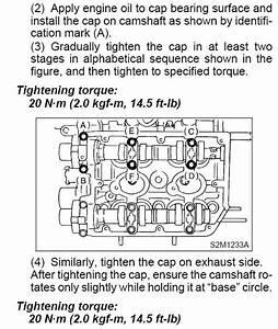 Camshaft Cap Torque Specs  Fsm Discrepancy