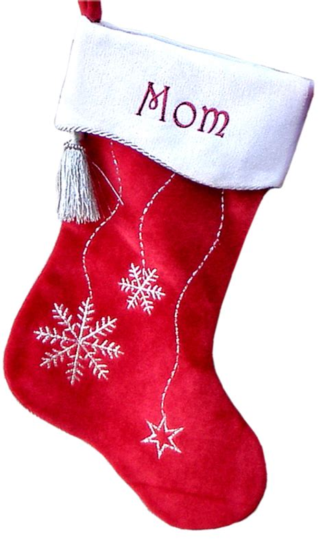 Snowflake Bling Velvet Personalized Christmas Stocking