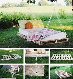 Schwebebett Selber Bauen : creative ways to use pallets wood pallet ideas recycled upcycled pallets furniture projects ~ Indierocktalk.com Haus und Dekorationen