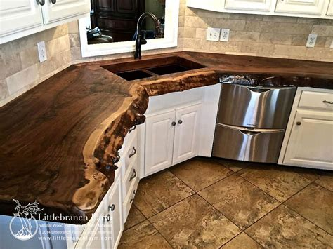 home vanity tops with natural wood countertops live edge wood slabs
