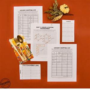 Thanksgiving Math Project: Have your students plan ...