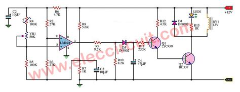 temperature controlled   relay circuit  lm