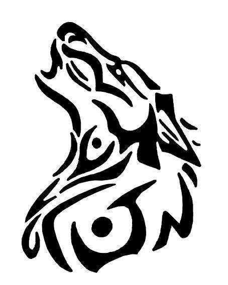tribal wolf | Tribal wolf, Tribal tattoos, Drawings