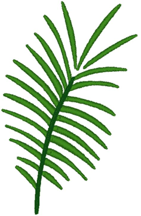 palm frond embroidery design