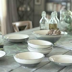 Steingut Geschirr Landhaus : sch ssel set 4 tlg anthrazit k che pinterest geschirr keramik und k che ~ Frokenaadalensverden.com Haus und Dekorationen