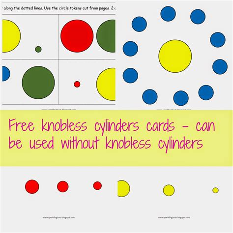 knobless cylinders cards  toddlers sparklingbuds