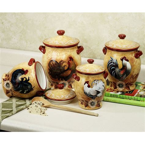 rooster kitchen canister sets gotta a rooster in the kitchen rooster canisters