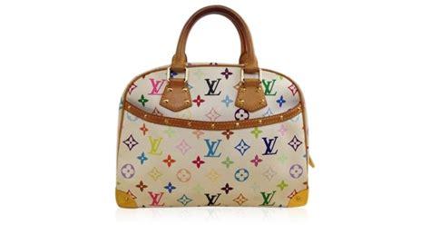 lyst louis vuitton trouville multicolor rainbow handbag