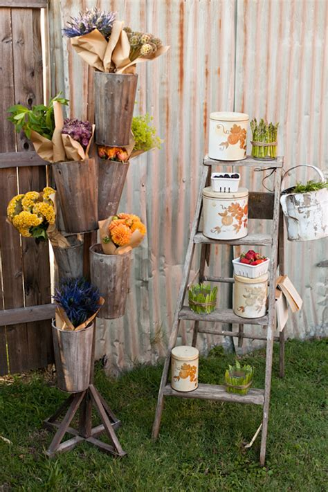 Farmers Market Decorating Ideas - how to throw a farm to table engagement