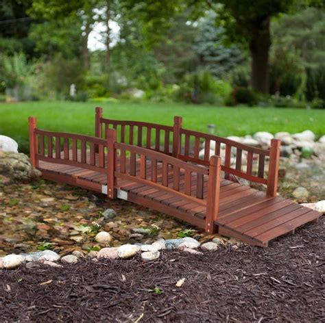 wooden garden bridge outdoor kit backyard yard bridges