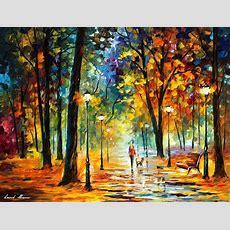 Improvisation Of Nature — Palette Knife Oil Painting On