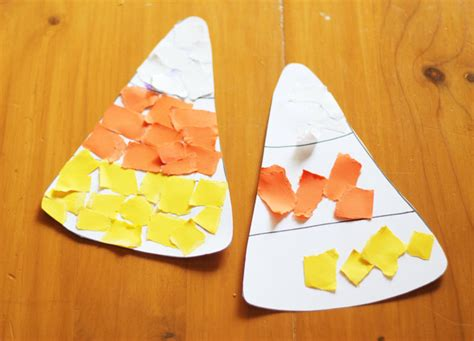 corn craft thriving home 620 | halloween craft idea for preschoolers