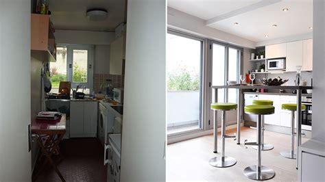 ouverture mur cuisine salon avant après ouvrir une cuisine sur le salon pour