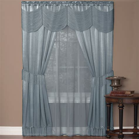 drapery sets achim halley 6 curtain set curtains at hayneedle