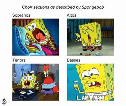 Choir Memes Spongebob Rehearsal Meme Musicnotes Described