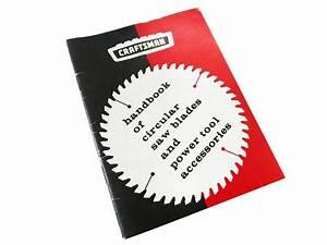 Handbook Of Craftsman Power Tools Circular Saw Blades