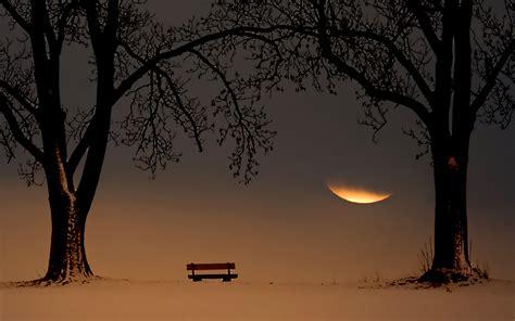 孤独的长椅唯美风景桌面壁纸大全 孤独的长椅唯美风景桌面壁纸大全专辑下载-找素材网