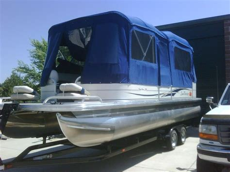 mini troline with enclosure pontoon boat deck boat forum view topic cing 7517