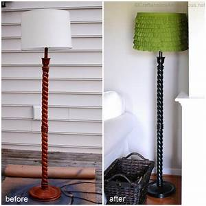 Craftaholics anonymousr diy lampshade for Floor lamp makeover ideas