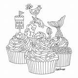 Coloring Pages Mandala Colouring Cakes Adult Cupcakes Therapy Mindfulness Books Apps Sheets Imprimir Apple Adults Sketch Inspiration Antistress Printable sketch template
