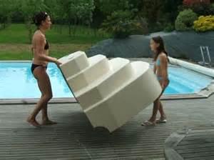 escalier sur liner piscine athena accelo distripool