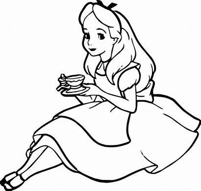 Coloring Drink Alice Tea Pages Designlooter 1424