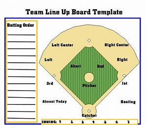 image gallery softball lineup With free softball lineup template
