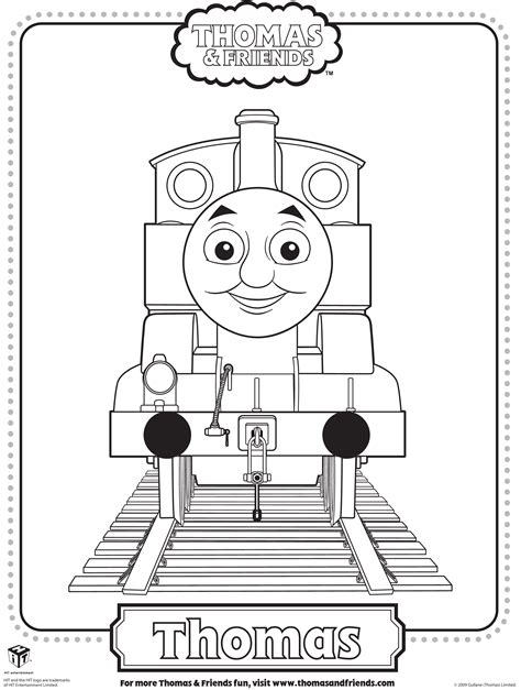thomas  train printable coloring pages