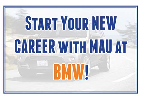 June 9 Come Start Your Career With Mau At Bmw