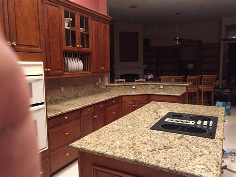kitchen island with granite countertop santa cecilia granite countertops installation kitchen