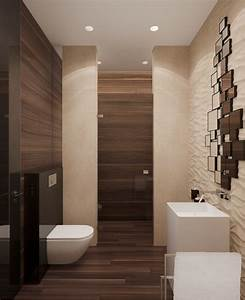 Stone and wood home with creative fixtures for Bathroom in the woods