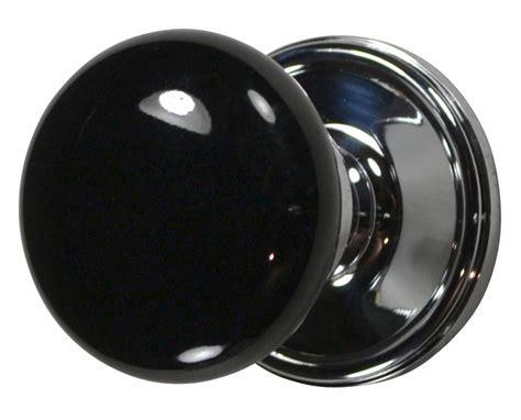 black door knobs black porcelain door knobs polished chrome plate